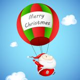 Santa Claus in Parachute Stock Photos