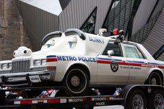 The Santa Claus Parade 2008. Toronto Metro Police Blinky the police car mascot at the Santa Claus Parade November 16, 2008.  Toronto, Ontario, Canada Stock Photography
