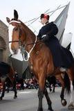 The Santa Claus Parade 2008. A Metro Toronto Mounted Police officer and horse, during the Santa Claus Parade, November 16, 2008.  Toronto Ontario, Canada Stock Photography