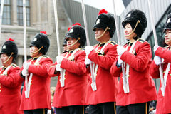 The Santa Claus Parade 2008. Members of the Phillippine Heritage Band participating in the Santa Claus parade.  November 16, 2008.  Toronto, Ontario, Canada Royalty Free Stock Images