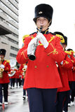 The Santa Claus Parade 2008. Members of the Burlington Teen Tour Band (Canada's Musical Ambassadors Since 1974) participating and playing instruments in the Stock Images