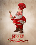 Santa Claus pastry cook greeting card Royalty Free Stock Photos