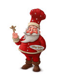 Santa Claus pastry cook - White background Stock Photo