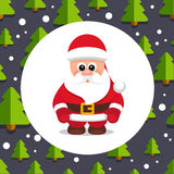 Santa Claus Pattern Christmas Vector 03 Stock Photography