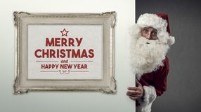 Santa Claus and Christmas wishes Stock Image