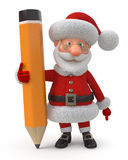 Santa Claus with a pencil Royalty Free Stock Images