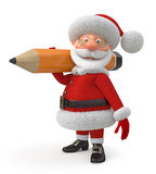 Santa Claus with a pencil Stock Photography