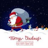 Santa Claus perde i suoi regali di Natale Immagini Stock