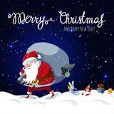 Santa Claus perde i suoi regali di Natale Fotografie Stock Libere da Diritti