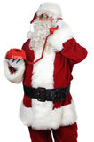 Santa Claus at the phone Royalty Free Stock Photography