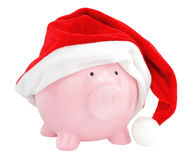 Santa Claus piggy bank Royalty Free Stock Photography