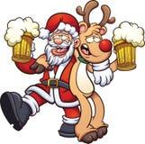Santa claus pijany royalty ilustracja
