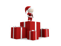 Santa claus with pile of gifts. Stock Photo