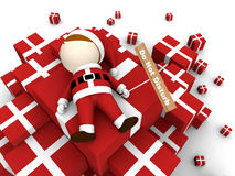 Santa claus with pile of gifts. Royalty Free Stock Photography