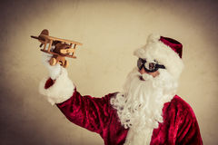Santa Claus pilot Stock Photo