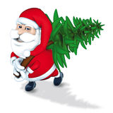 Santa Claus and pine Stock Images