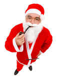 Santa Claus with pipe Stock Image