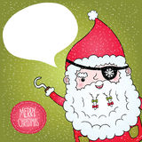 Santa Claus pirate poster Royalty Free Stock Photos