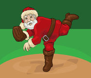 Santa Claus pitching Stock Images