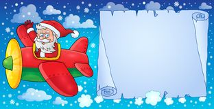 Santa Claus in plane theme image 8 Stock Photo