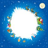 Santa Claus-planeet - Illustratie Royalty-vrije Stock Foto's