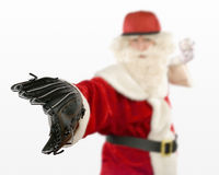 Santa Claus Playing Baseball Stock Photography