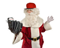 Santa Claus Playing Baseball Royalty Free Stock Photos