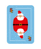 Santa Claus playing card. New concept of playing cards. Royalty Free Stock Photography