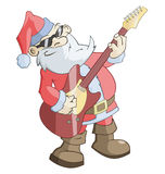 Santa Claus is playing the guitar Royalty Free Stock Image