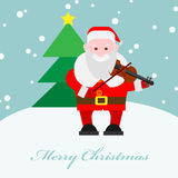 Santa Claus playing the violin Stock Image