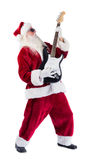 Santa Claus plays guitar with sunglasses Royalty Free Stock Photo