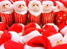 Santa Claus plysch, dockaserie Royaltyfria Foton