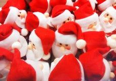 Santa Claus plysch, dockaserie Arkivfoto