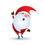 Santa Claus point finger up.  Stock Image