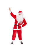 Santa Claus point finger up Royalty Free Stock Images