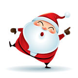 Santa Claus point finger up. Vector illustration of snowman on white background Royalty Free Stock Image