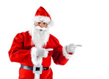 Santa Claus pointing Stock Photography