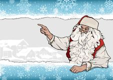 Santa Claus Pointing Background Images stock