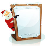 Santa Claus Pointing Christmas Background Stock Photos