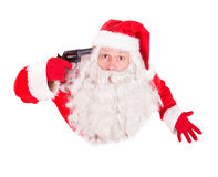 Santa Claus pointing a gun to his head Stock Photos