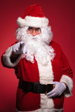 Santa claus is pointing his finger Royalty Free Stock Photography