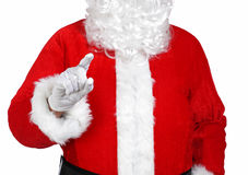 Santa Claus pointing something with his finger Stock Photography