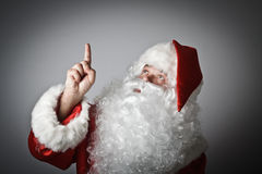Santa Claus is pointing Stock Image