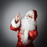 Santa Claus is pointing Stock Photo