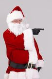 Santa Claus pointing to blank space Stock Photo