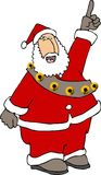 Santa Claus pointing up Royalty Free Stock Image