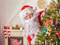 Santa Claus. Portrait of funny Santa Claus royalty free stock photos
