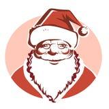 Santa Claus portrait isolated on white Stock Image