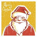 Santa Claus portrait on old christmas card Stock Photography