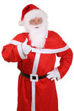 Santa Claus portrait showing on Christmas thumbs up  Stock Photography